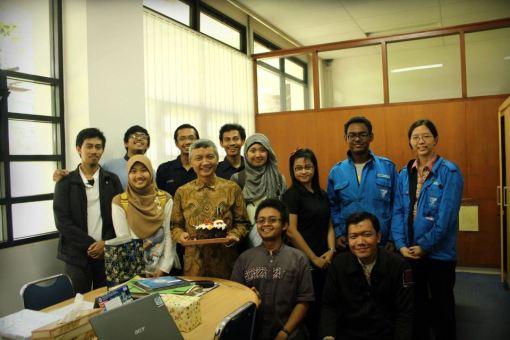 Professor Hermawan K. Dipojono and his labmates