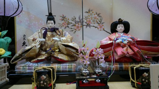 Hanamatsuri Dolls for sale in Kanazawa Daiwa Department Store. I want to faint seeing the price.